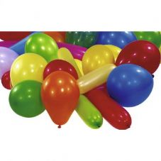 10 Assorted Shape & Size Balloons